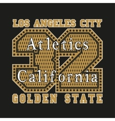 Los Angeles CA atletics golden fashion vector image