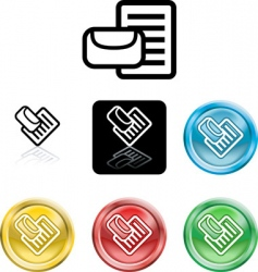 mail or messge icon symbol vector image