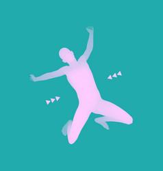 man falling down jumping man 3d model of man vector image