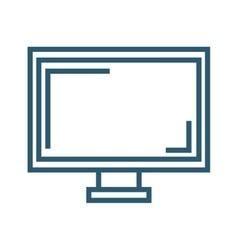 Monitor screen computer vector