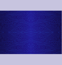mystic dark blue abstract linear seamless pattern vector image