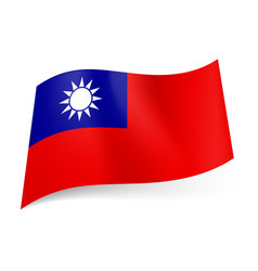 national flag of taiwan republic of china blue vector image