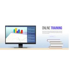 Online training concept educational training vector