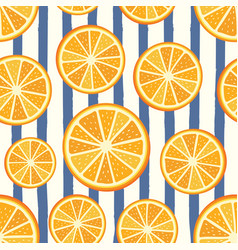 orange pattern vector image