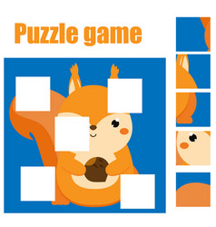 Puzzle for toddlers complete the picture with vector