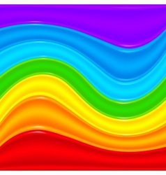 Rainbow plastic waves abstract background vector