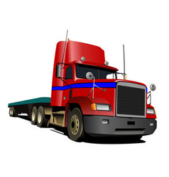 red truck lorry vector image