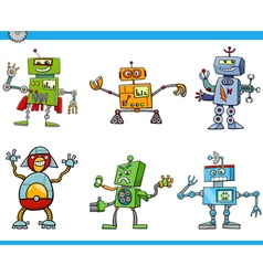 Robot cartoon characters vector