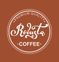 robusta coffee logo of vector image