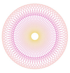 round guilloche pattern vector image