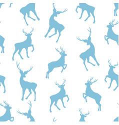 seamless deer pattern vector image