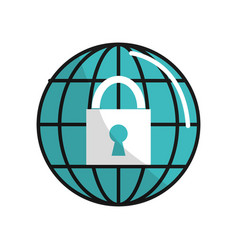 Security digital global service connect vector