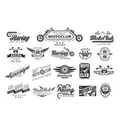 set of original bikers emblems vintage vector image