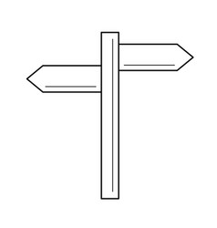 signpost line icon vector image