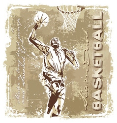slam dunk basketball champ vector image