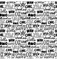 slang youth word seamless pattern vector image