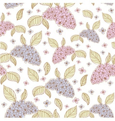 Spring lilac flowers seamless vector image