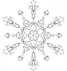 Summer snowflake vector