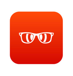 sunglasses icon digital red vector image vector image