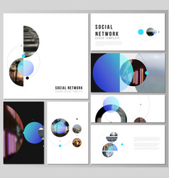 the minimalistic layouts of modern social vector image