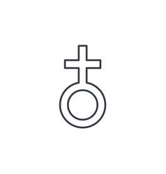 Woman symbol thin line icon linear symbol vector