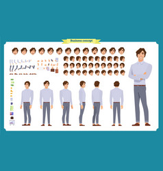 young man in casual clothes character creation vector image