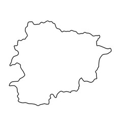 andorra map of black contour curves on white vector image