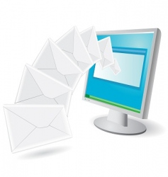 emails vector image vector image