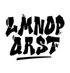 Graffiti style font type alphabet part 2 vector image
