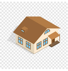 one storey house with porch isometric icon vector image