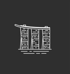 singapore landmark in outline style vector image