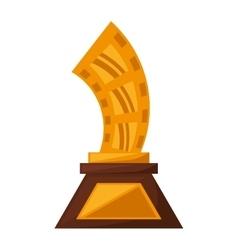strip film trophy awards golden vector image vector image