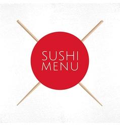 Sushi menu cover template vector