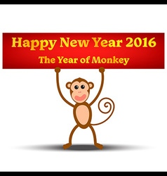 The Year of Monkey vector image vector image
