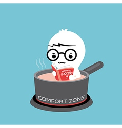 comfort zone conceptual cartoon vector image vector image