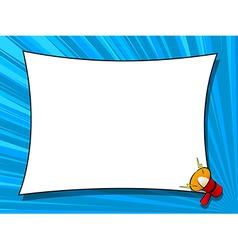 Comic book loudspeaker announcement window page vector