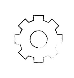 figure gear industry technology information icon vector image vector image