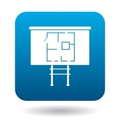 House on stilts icon simple style vector image vector image