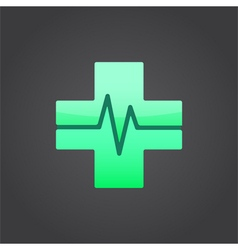 Medical cross sign vector image vector image