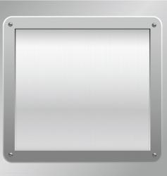 metallic plaque background vector image