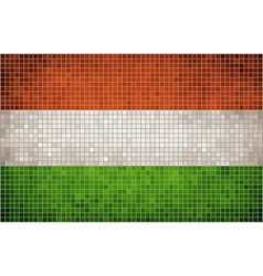 Mosaic Flag of Hungary vector image