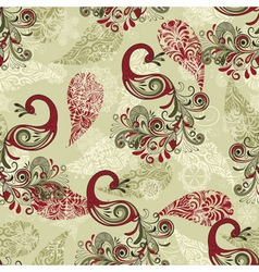 seamless winter pattern with stylized peacocks vector image vector image