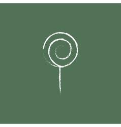 Spiral lollipop icon drawn in chalk vector image