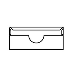 stationary paper tray it is black icon vector image vector image