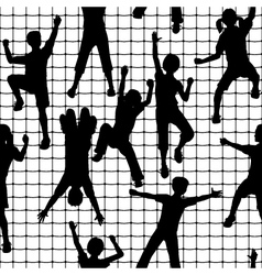 Climbing kids tile vector image vector image