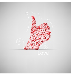 Template design Like symbol icon Valentines day vector image vector image