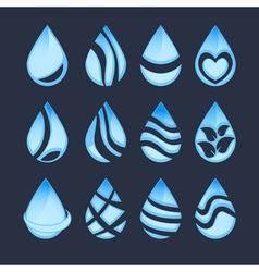 water drop symbols vector image vector image