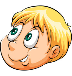 A head of a young boy vector image vector image