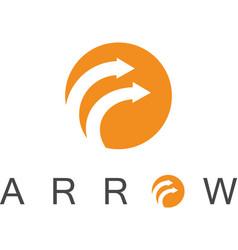 circle arrow logo vector image