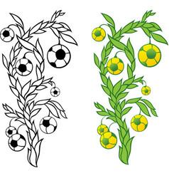 football tree vector image vector image